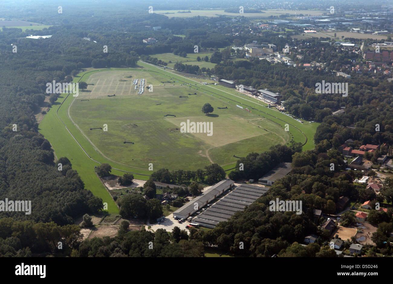 Hoppegarten, Alemania, vista aérea del hipódromo Hoppegarten Imagen De Stock