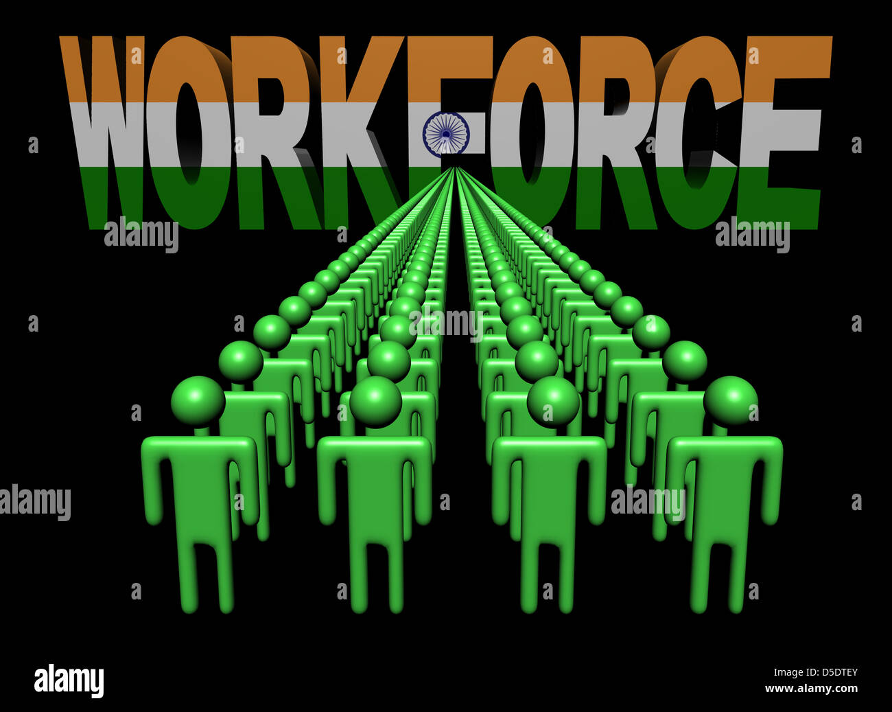 Indian Workforce Flag Text Illustration Imágenes De Stock & Indian ...