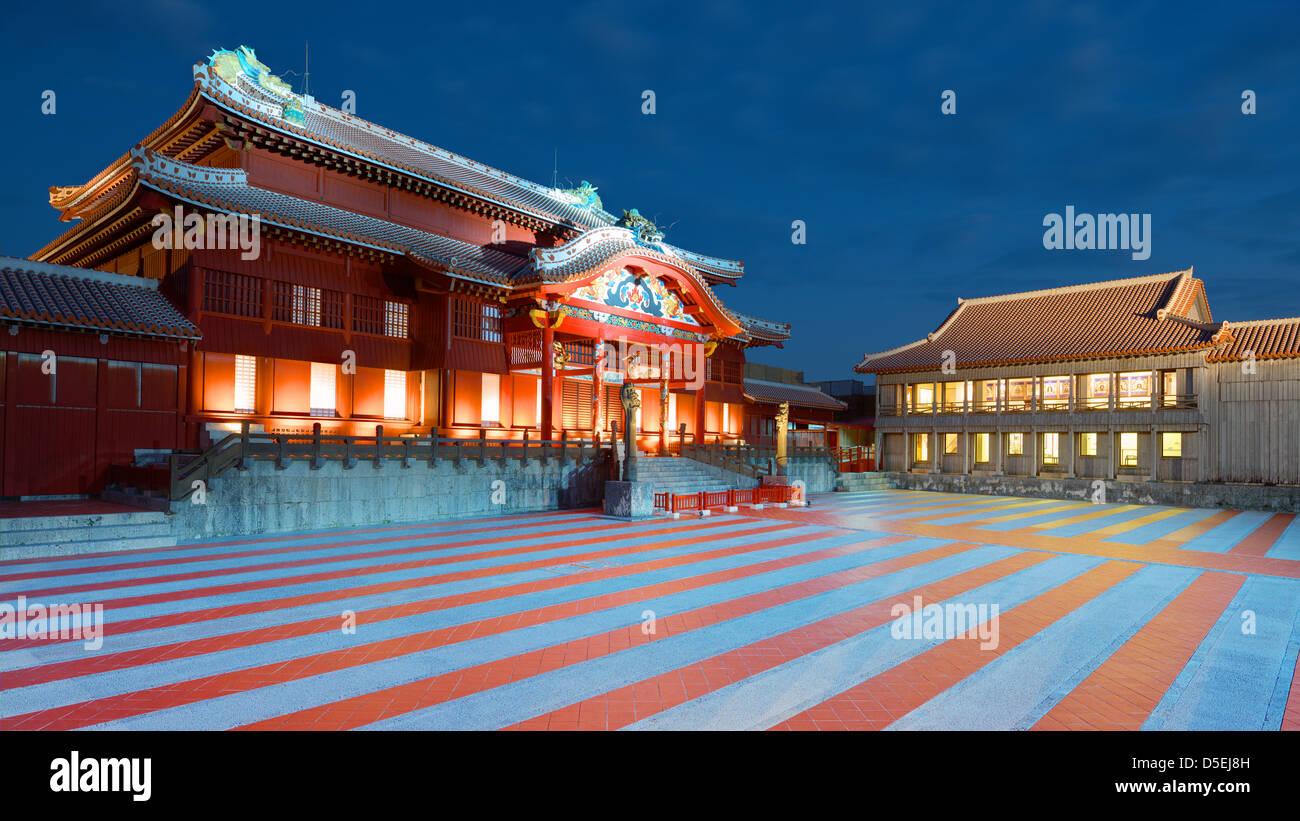 Castillo de Shuri en Okinawa, Japón fue una vez el Palacio del Reino Ryūkyū en Okinawa, Japón. Imagen De Stock