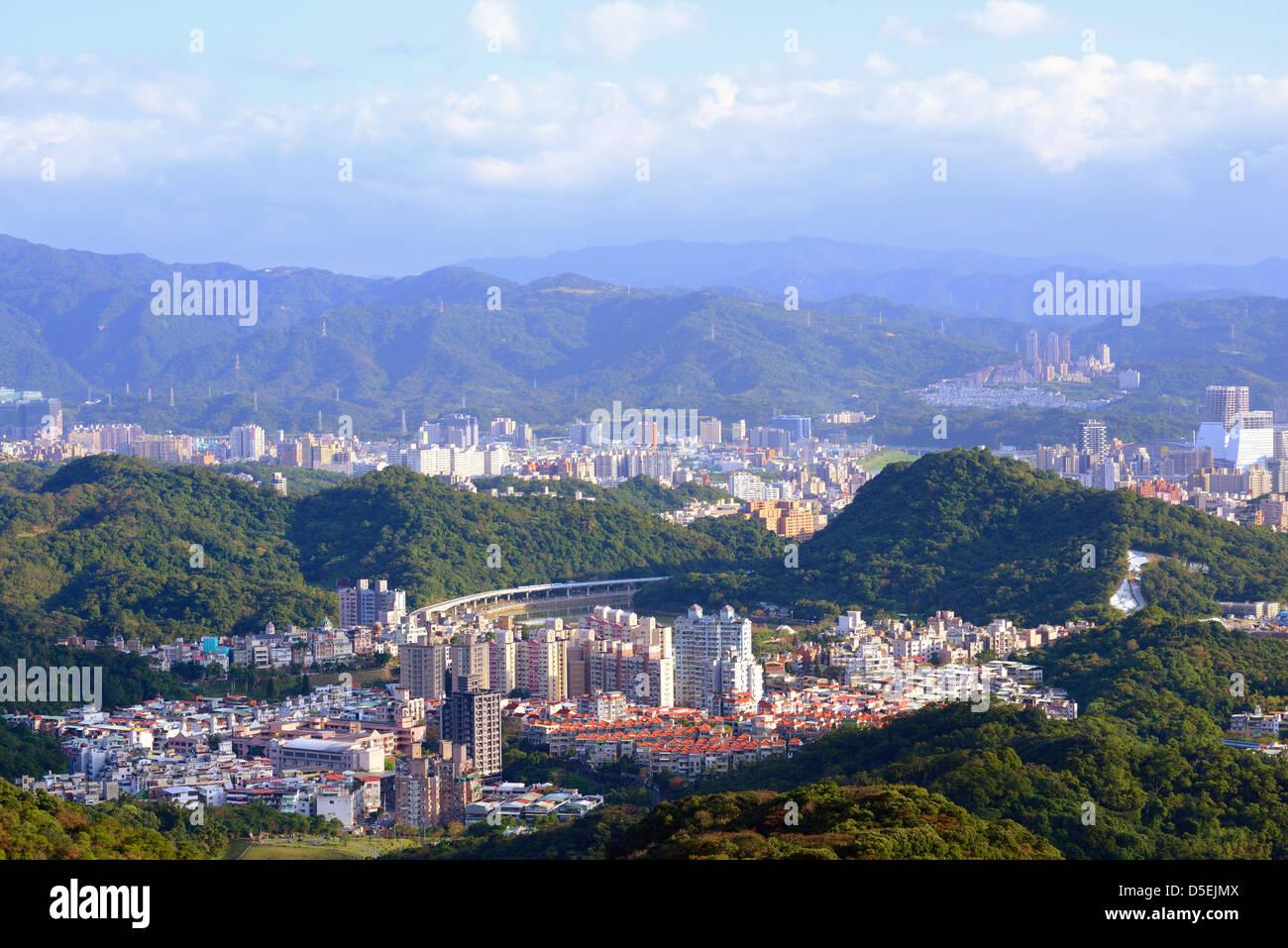 Residenciales y edificios de apartamentos, edificios altísimos en neihu district, Taipei, Taiwán. Imagen De Stock