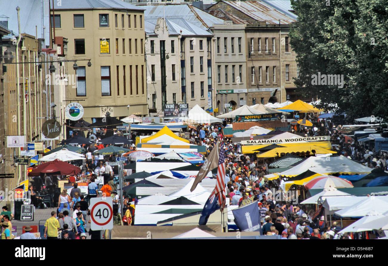 Hobart, Tasmania, Australia el sábado en el mercado de Salamanca Imagen De Stock