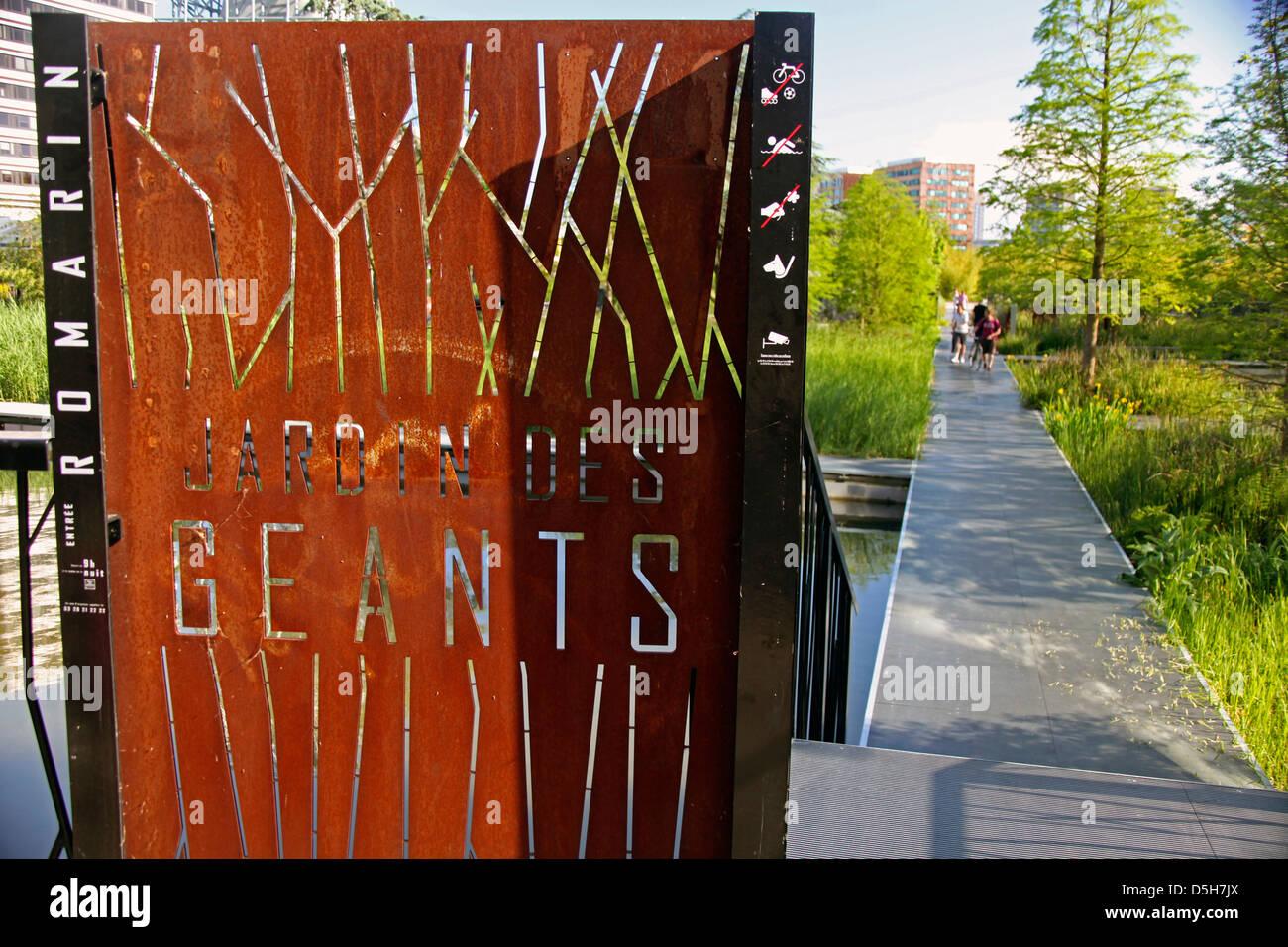 Europa, Francia, Lille. El jardín de gigantes, Lille. Imagen De Stock