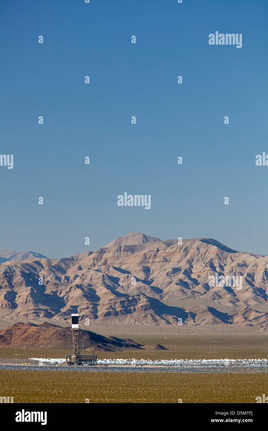 Proyecto Solar Ivanpah Imagen De Stock