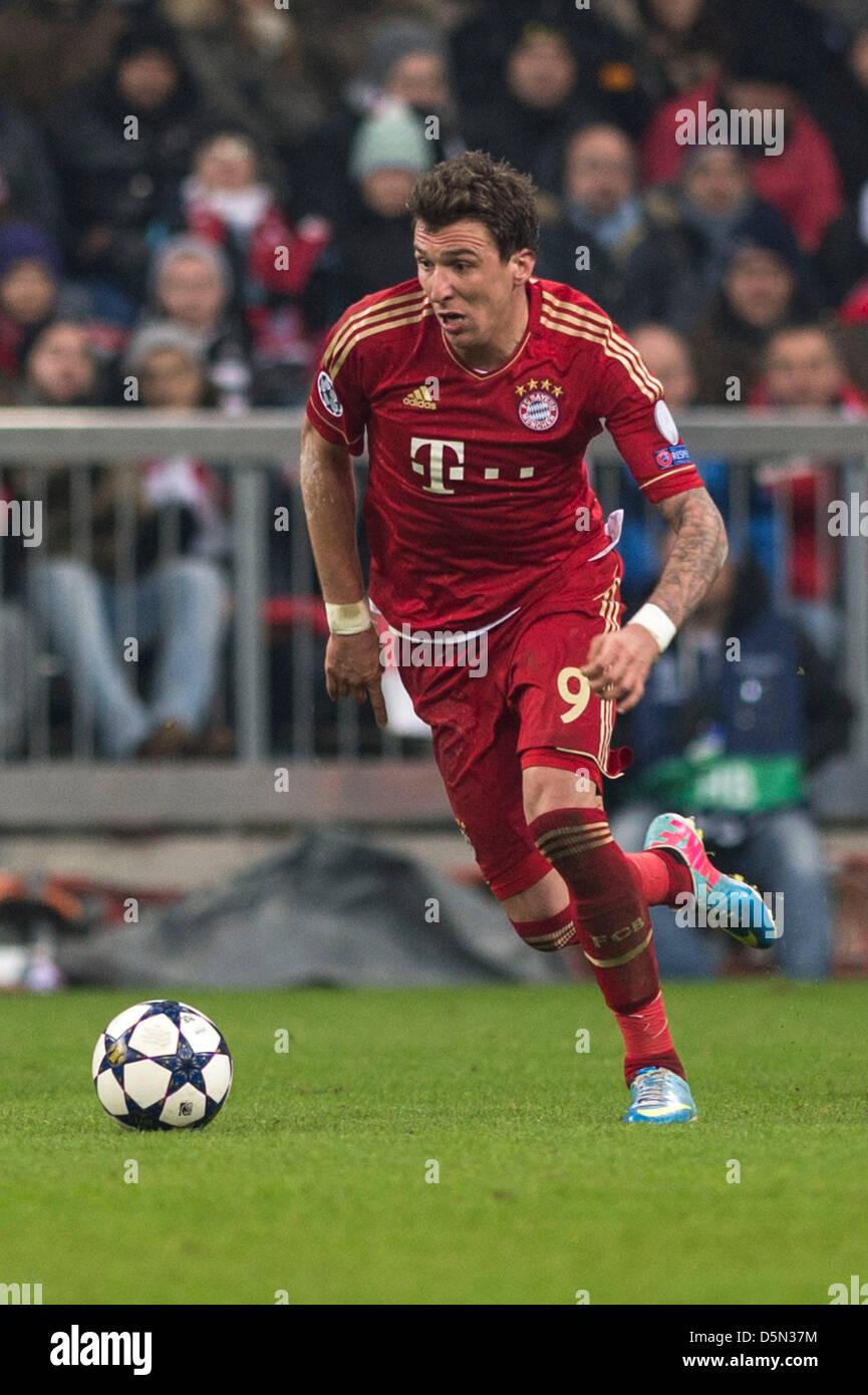 Mario Mandzukic (Bayern), 2 de abril de 2013 - Fútbol / Fútbol UEFA ...