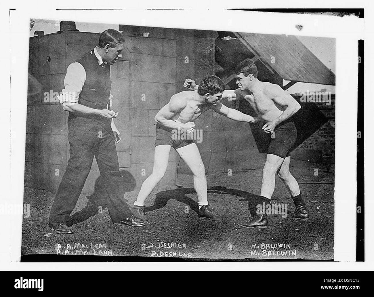 A.A. MacLean, D. Deshler, M. Baldwin (LOC) Imagen De Stock