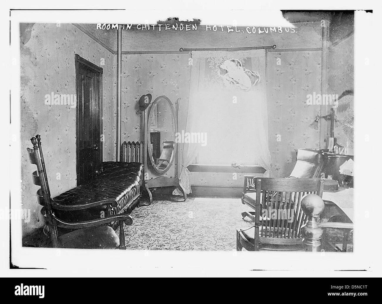 Habitación en Chittenden Hotel Columbus (LOC) Imagen De Stock