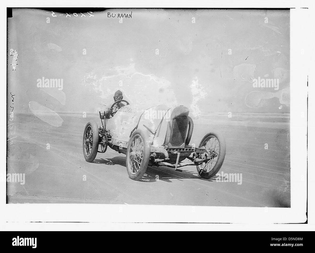 [Conductor de autos de carrera Bob Burman y sus 'Blitzen Benz'] (LOC) Imagen De Stock