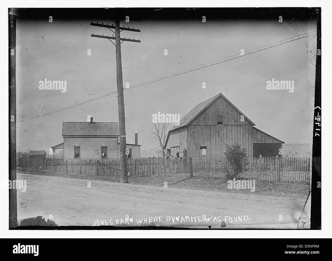 Jones dinamita granero donde fue encontrado (LOC) Imagen De Stock