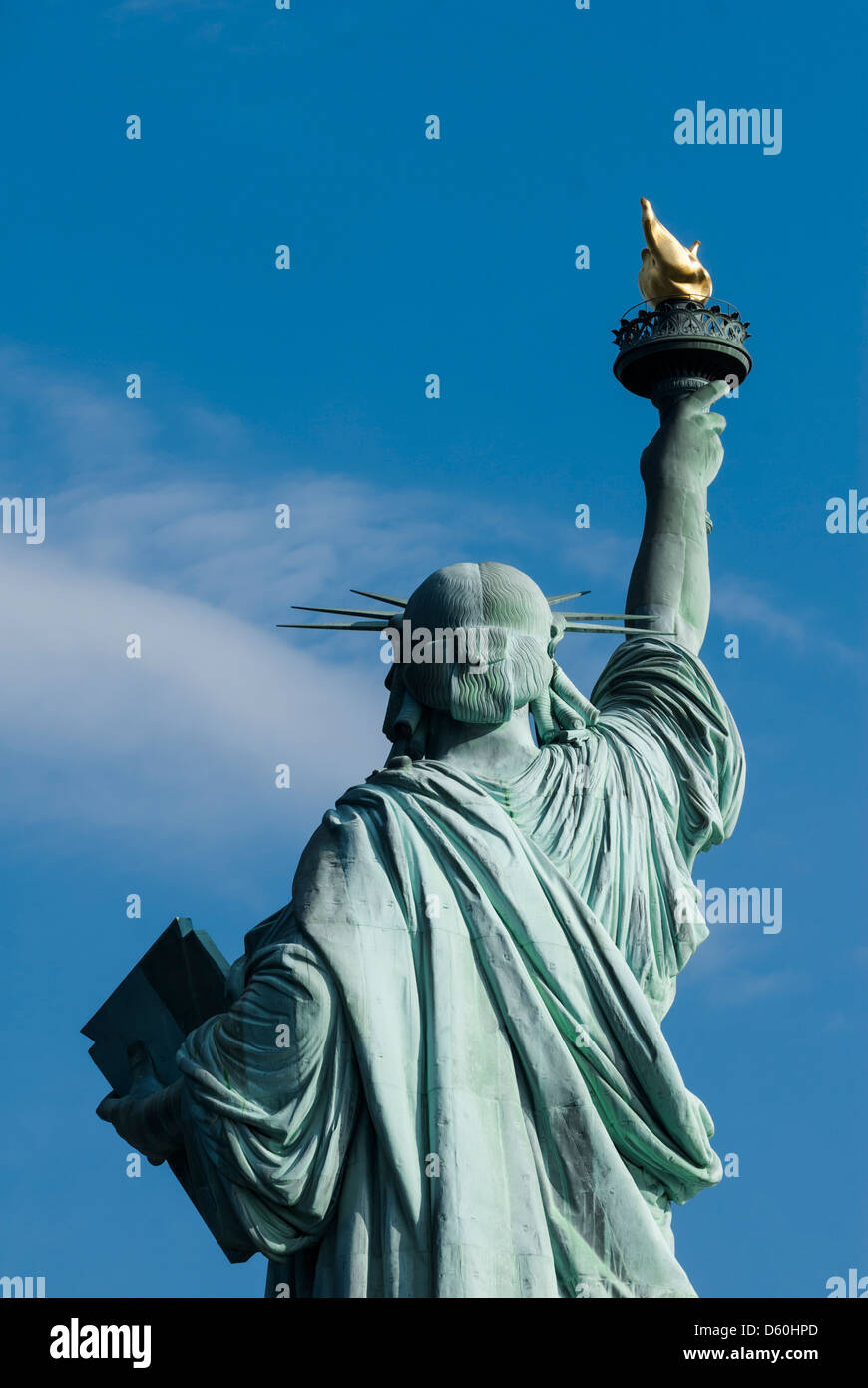 El reverso de la Estatua de la libertad, la Isla de la libertad, de la ciudad de Nueva York, Nueva York, Estados Imagen De Stock