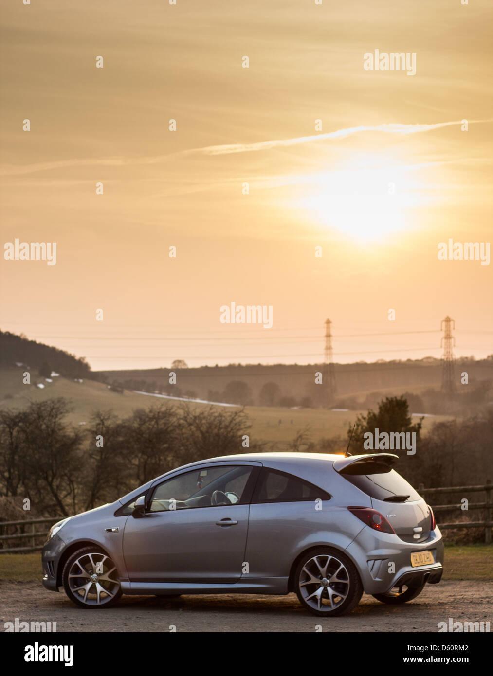 Vauxhaul corsa Vxr al atardecer Imagen De Stock