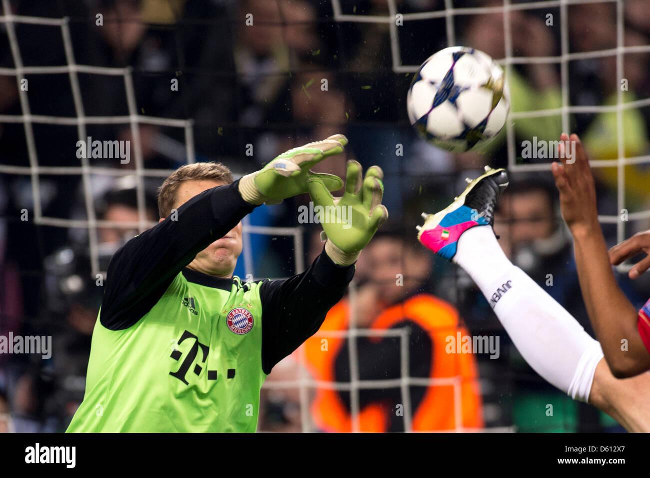 Turín, Italia. El 10 de abril de 2013. Manuel Neuer (Bayern), el 10 ...