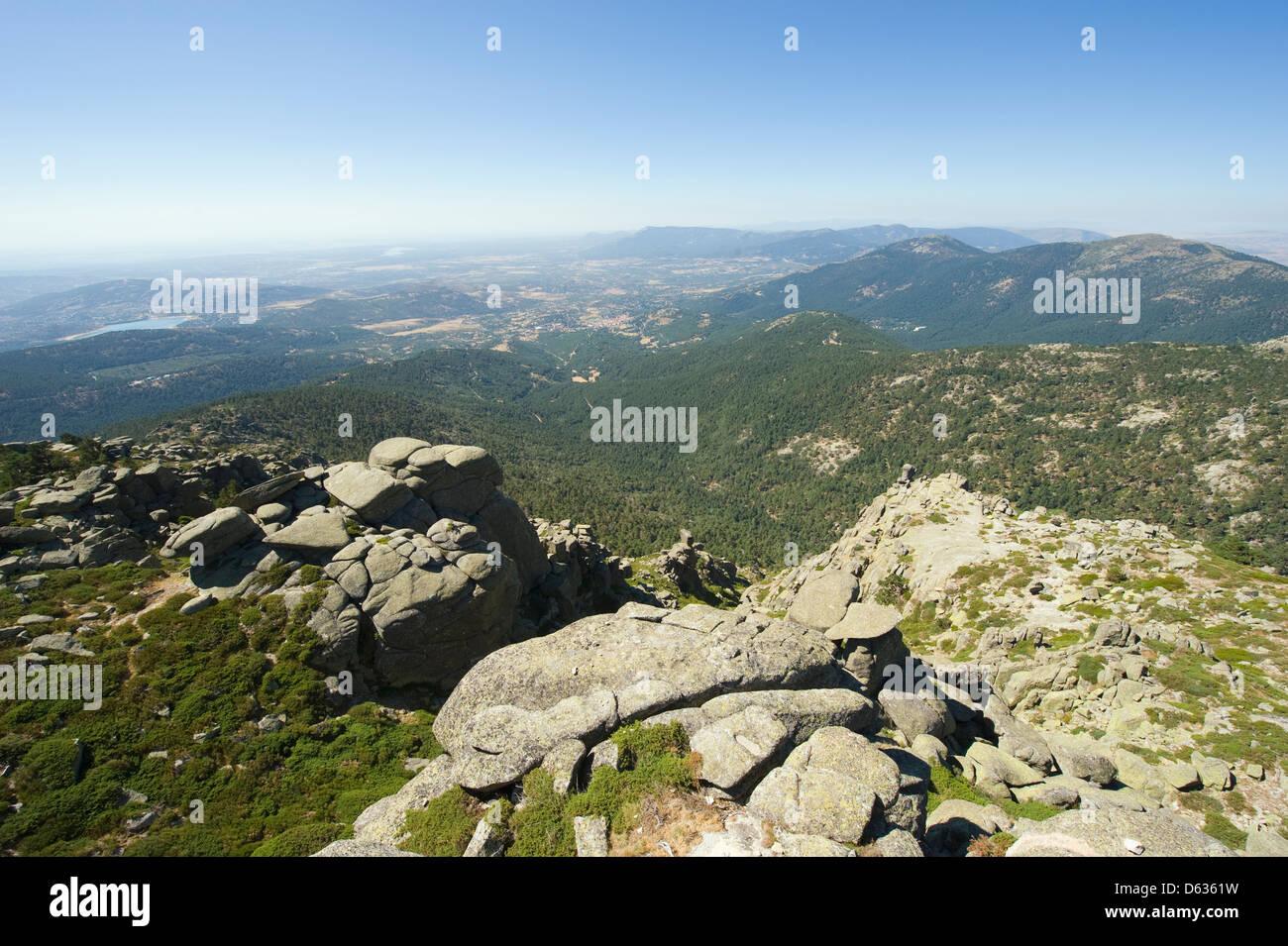 Sietos Picos, Siete Picos en Guadarrama, Madrid, España Imagen De Stock