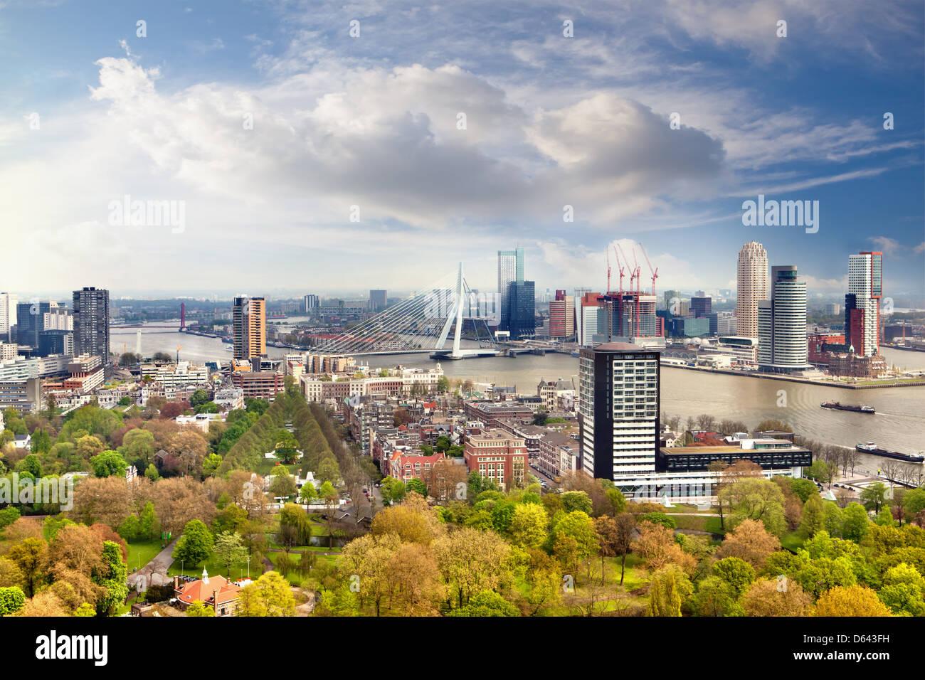 Panorama de Rotterdam Imagen De Stock