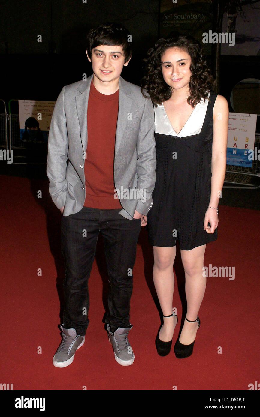 """Craig Roberts y Yasmin Paige UK Film estreno de """"submarino"""" en el BFI Southbank de Londres, Inglaterra Imagen De Stock"""