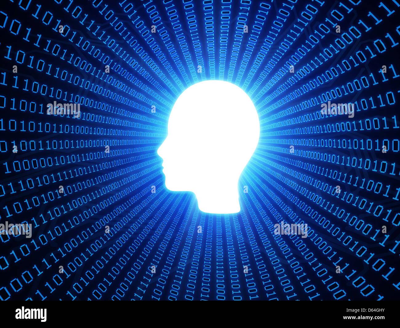 Los datos personales, la obra conceptual Imagen De Stock