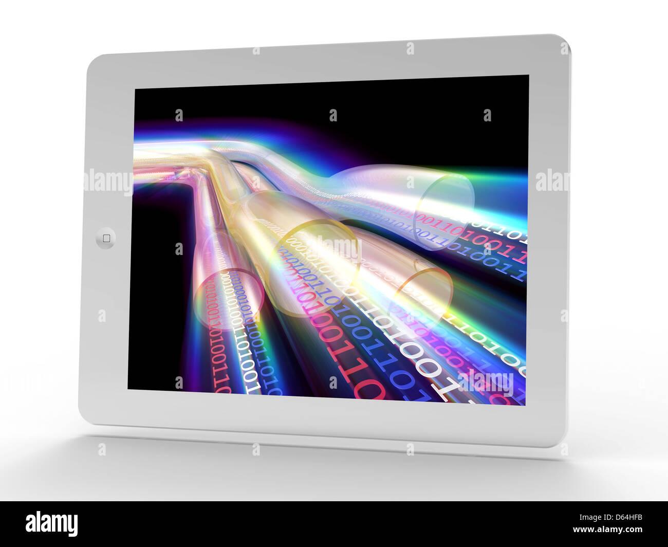 Tablet PC, la autopista de la información Imagen De Stock