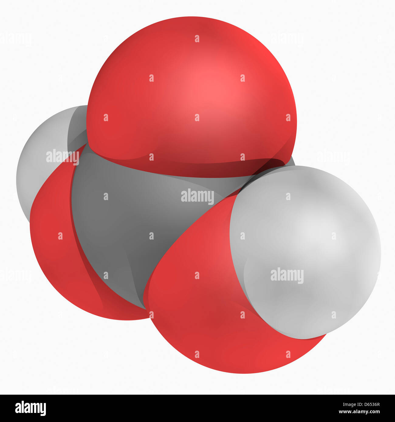 Molécula de ácido carbónico Imagen De Stock