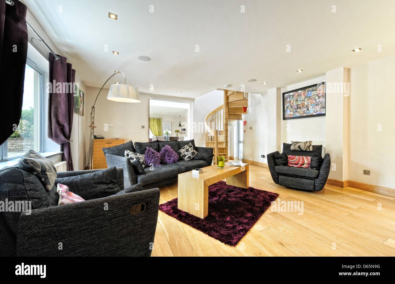 Una moderna sala de estar Imagen De Stock