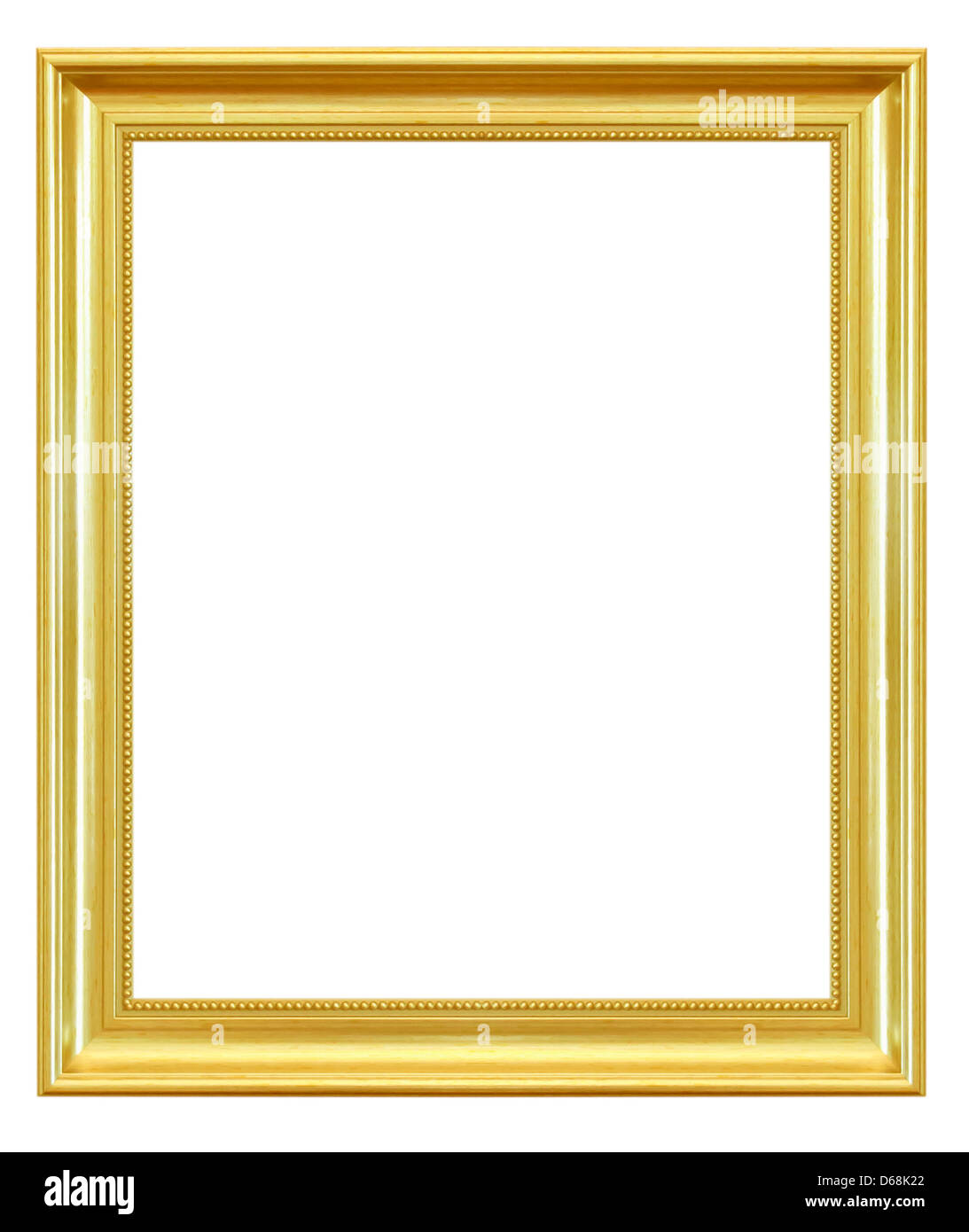 Marco de madera de oro antigua fondo blanco Foto & Imagen De Stock ...