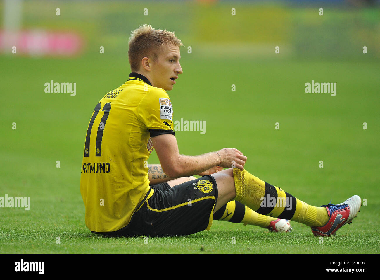 Dortmunds Marco Reus Sits On Imágenes De Stock & Dortmunds Marco ...