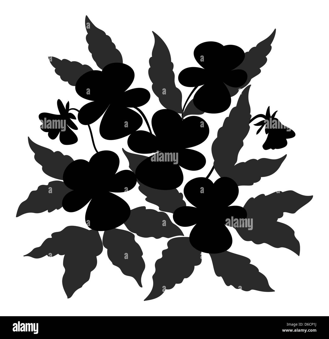 Contorno - flores flores Imagen De Stock