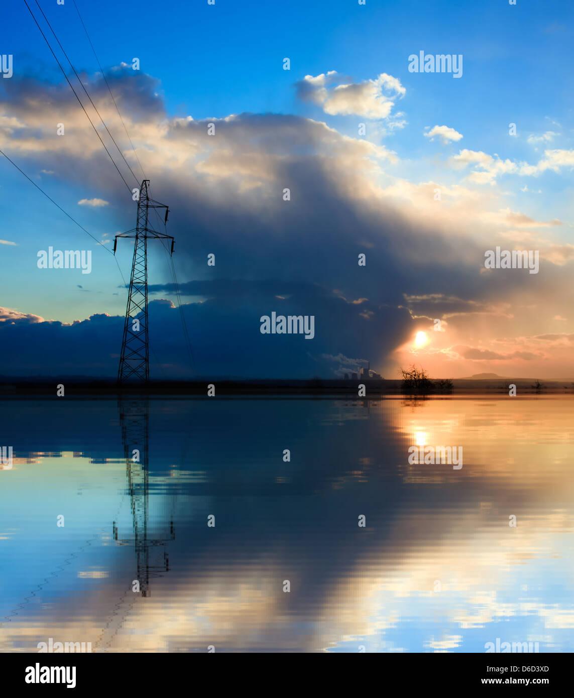 Energía azul Imagen De Stock