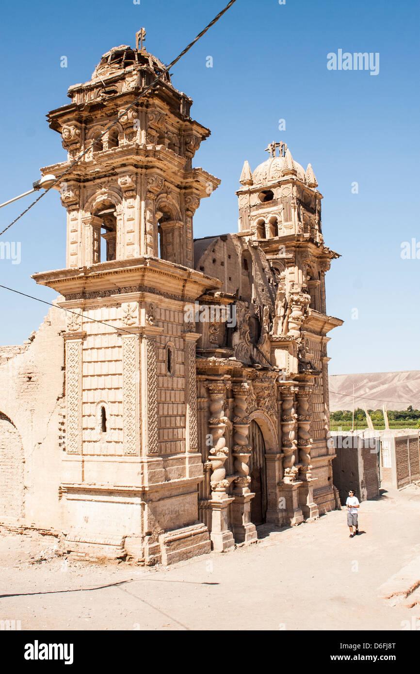 Iglesia de San José (Iglesia de San José), en el distrito de El Ingenio, construido por los colonos españoles Imagen De Stock