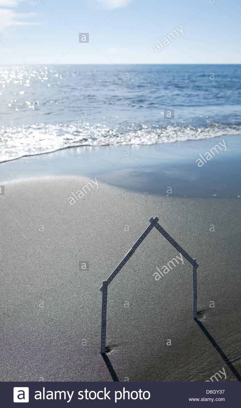 Casa de playa de forma Prunete Córcega Imagen De Stock
