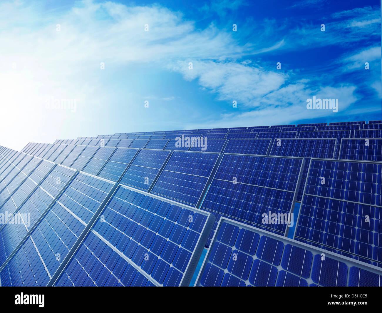 Energía Solar, ilustraciones Foto de stock