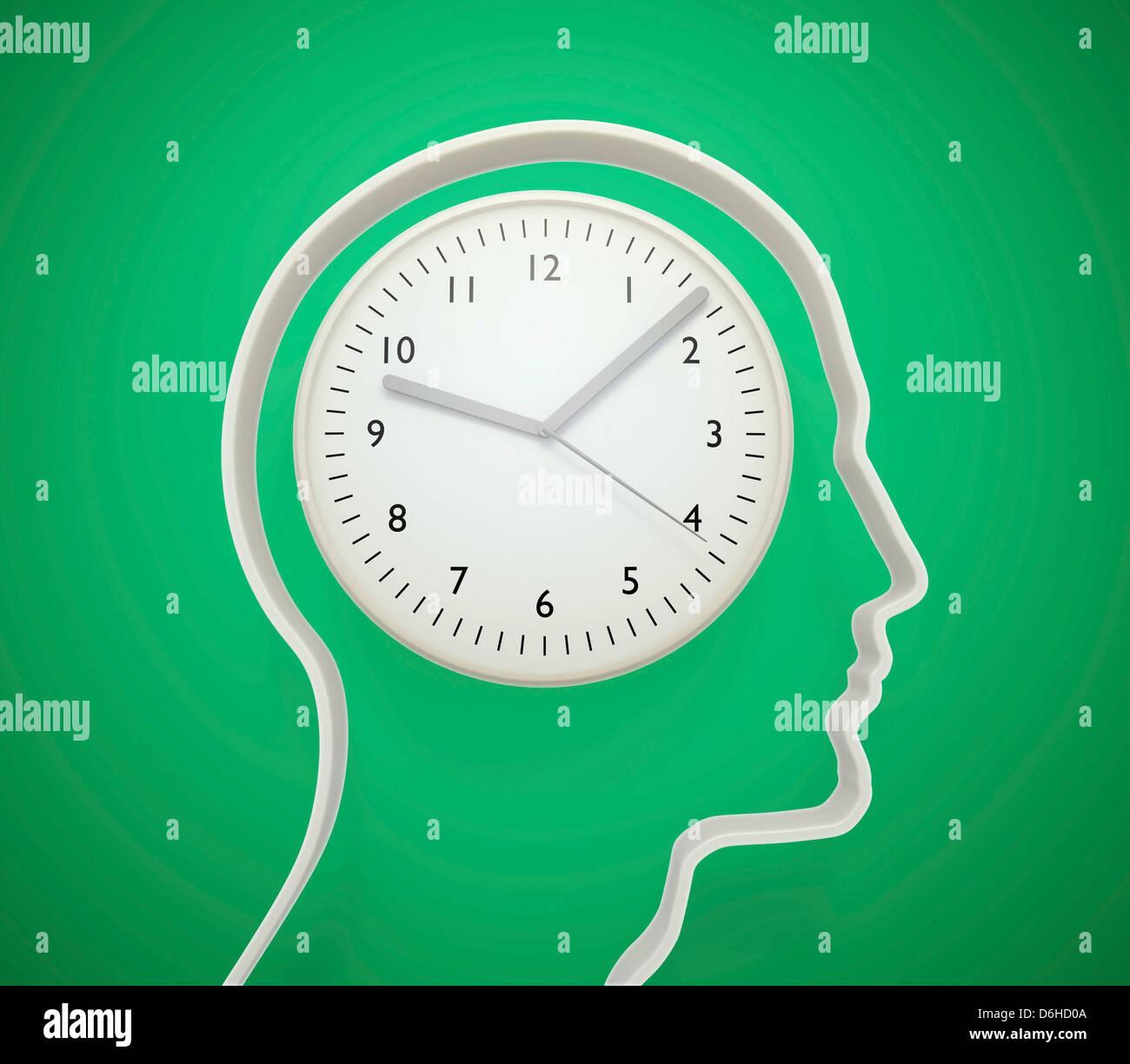 Envejecimiento cerebral, obra conceptual Imagen De Stock