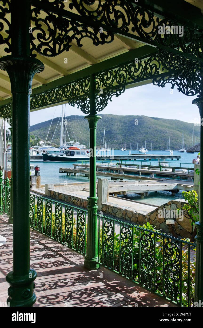 Bitter End Yacht Club, la isla de Virgen Gorda, Islas Vírgenes Británicas, Indias Occidentales, el Caribe, Imagen De Stock