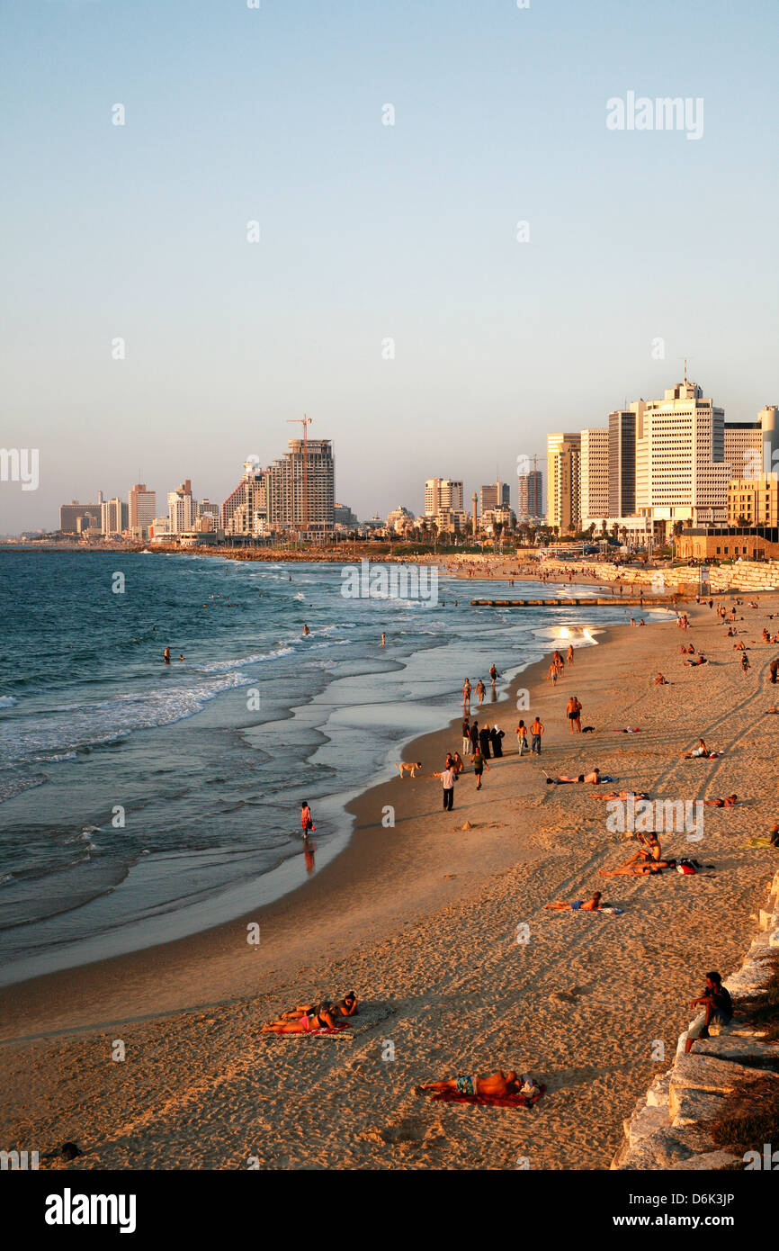 Playa, Tel Aviv, Israel, Oriente Medio Imagen De Stock