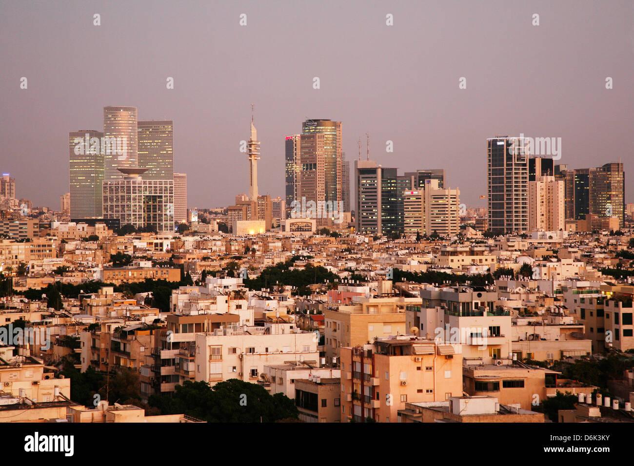 Vistas panorámicas de la ciudad de Tel Aviv, Israel, Oriente Medio Imagen De Stock