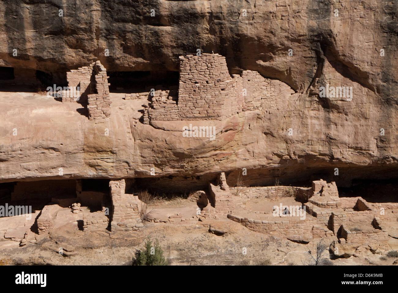 El Parque Nacional Mesa Verde, Sitio del Patrimonio Mundial de la UNESCO, Colorado, Estados Unidos de América, Imagen De Stock