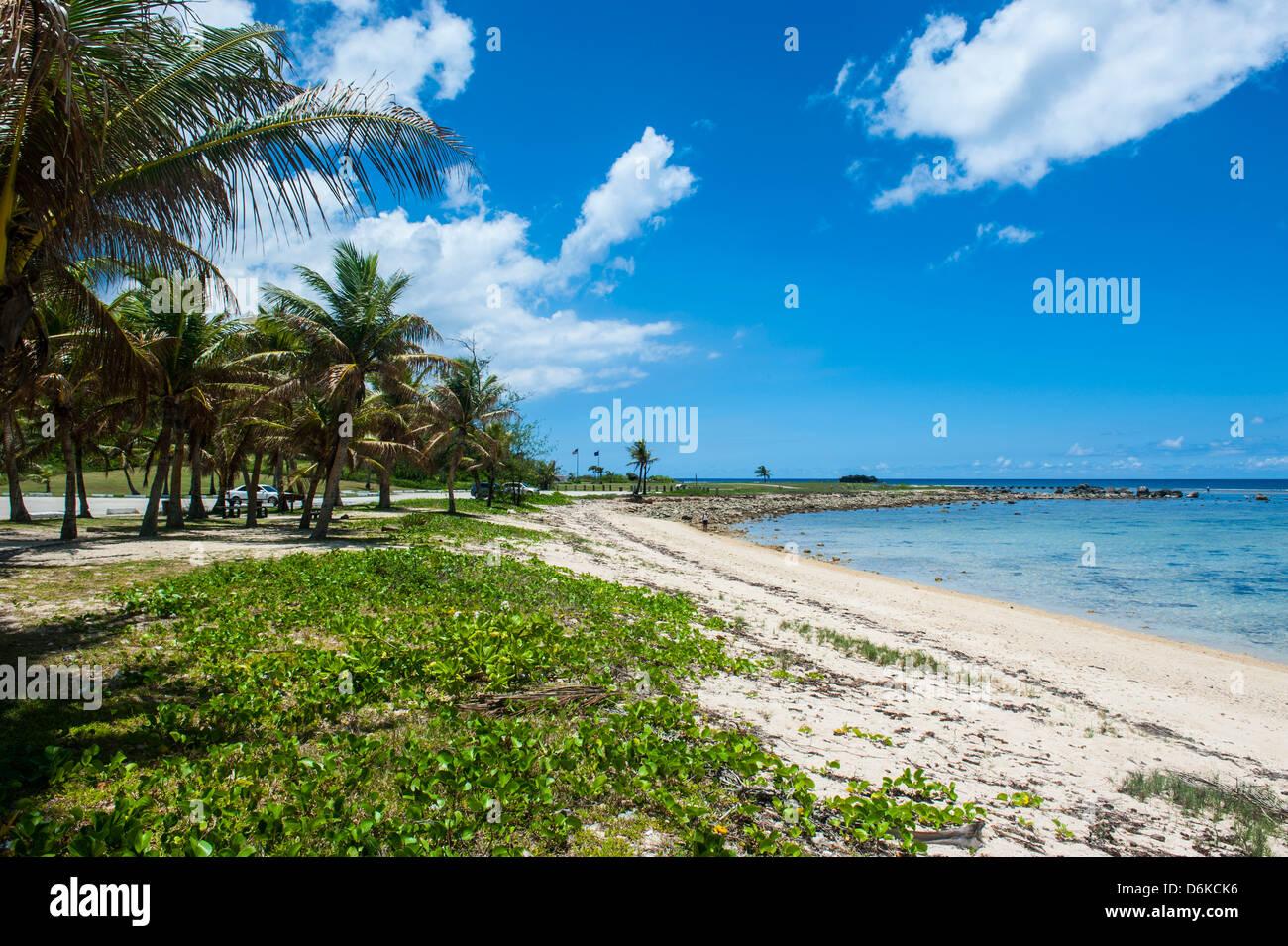 Sandy Bay en el Parque Histórico Nacional del Pacífico, Guam, territorio estadounidense, Pacífico Central, Pacífico Foto de stock