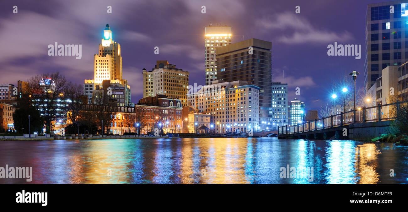 Providence, Rhode Island fue una de las primeras ciudades, establecida en los Estados Unidos. Imagen De Stock