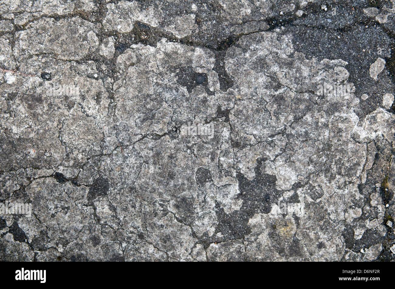 Cerca del camino de piedra mostrando las texturas y los patrones Imagen De Stock