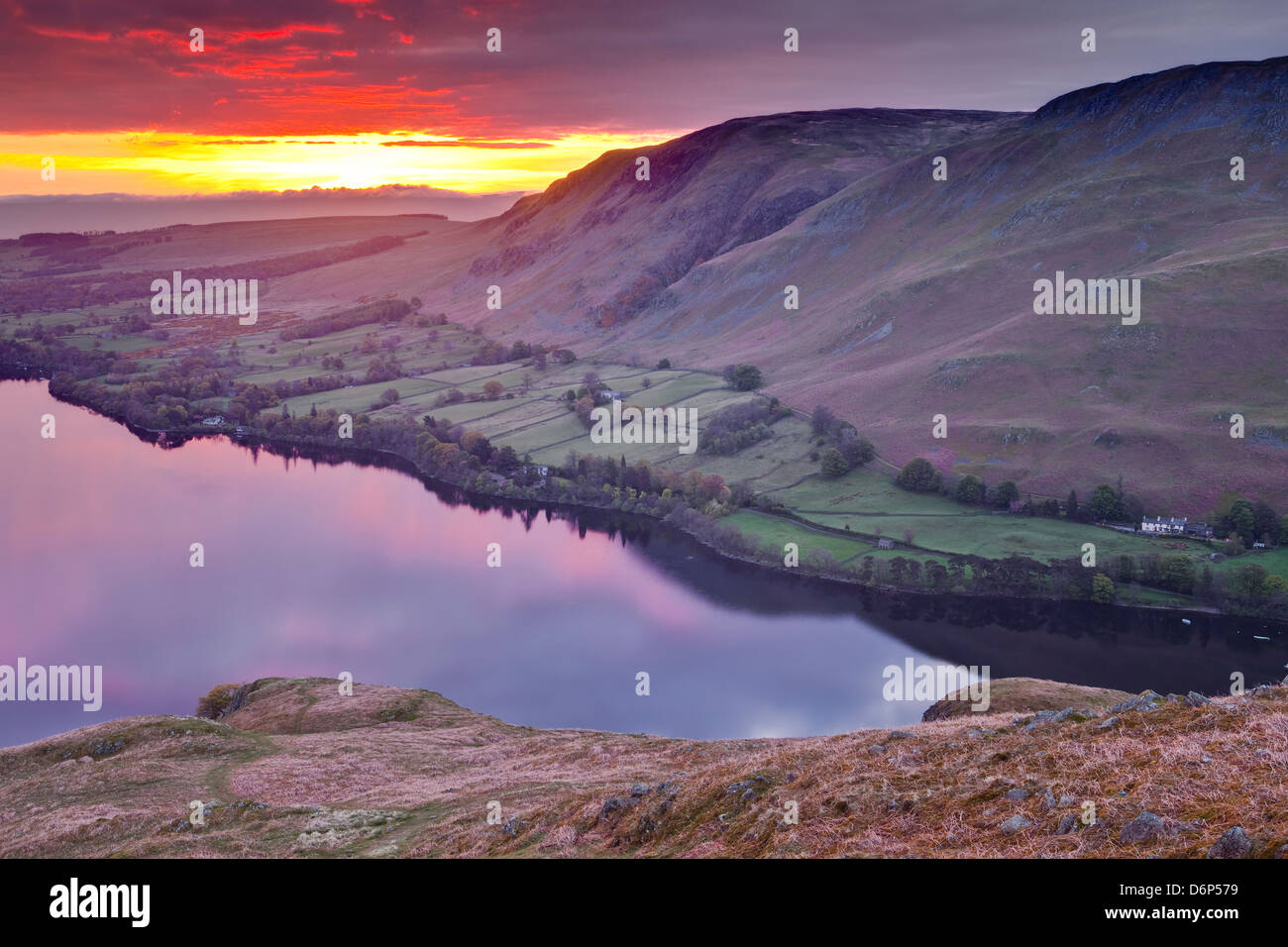 Ullswater en el Lake District National Park, Cumbria, Inglaterra, Reino Unido, Europa Imagen De Stock