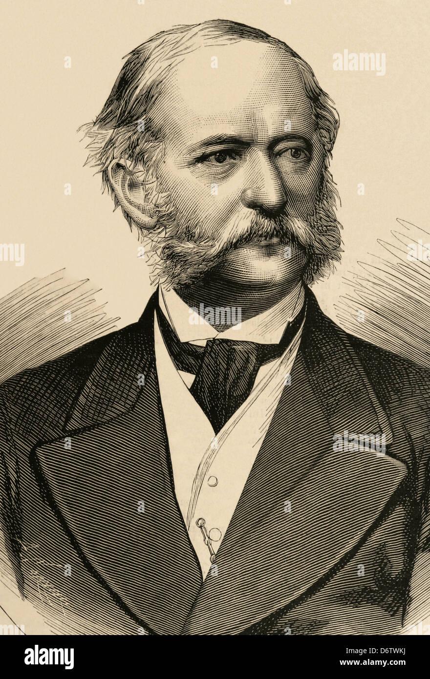 """El barón Heinrich Karl von Haymerle (1828-1881). Estadista austríaco. 'La Ilustración española y americana"""", 1879. Foto de stock"""