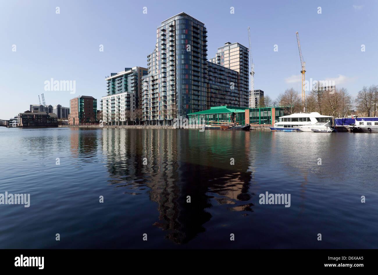 Capacidad Lugar, Millwall Inner dock, Millwall, Isle of Dogs, Londres. Imagen De Stock