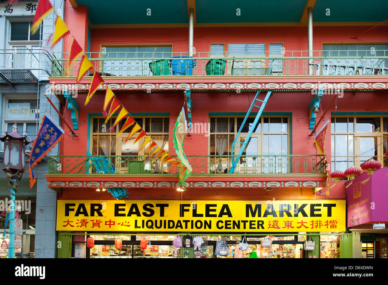 Colorido mercadillo de 'Far East', Chinatown, San Francisco, California, EE.UU. Imagen De Stock