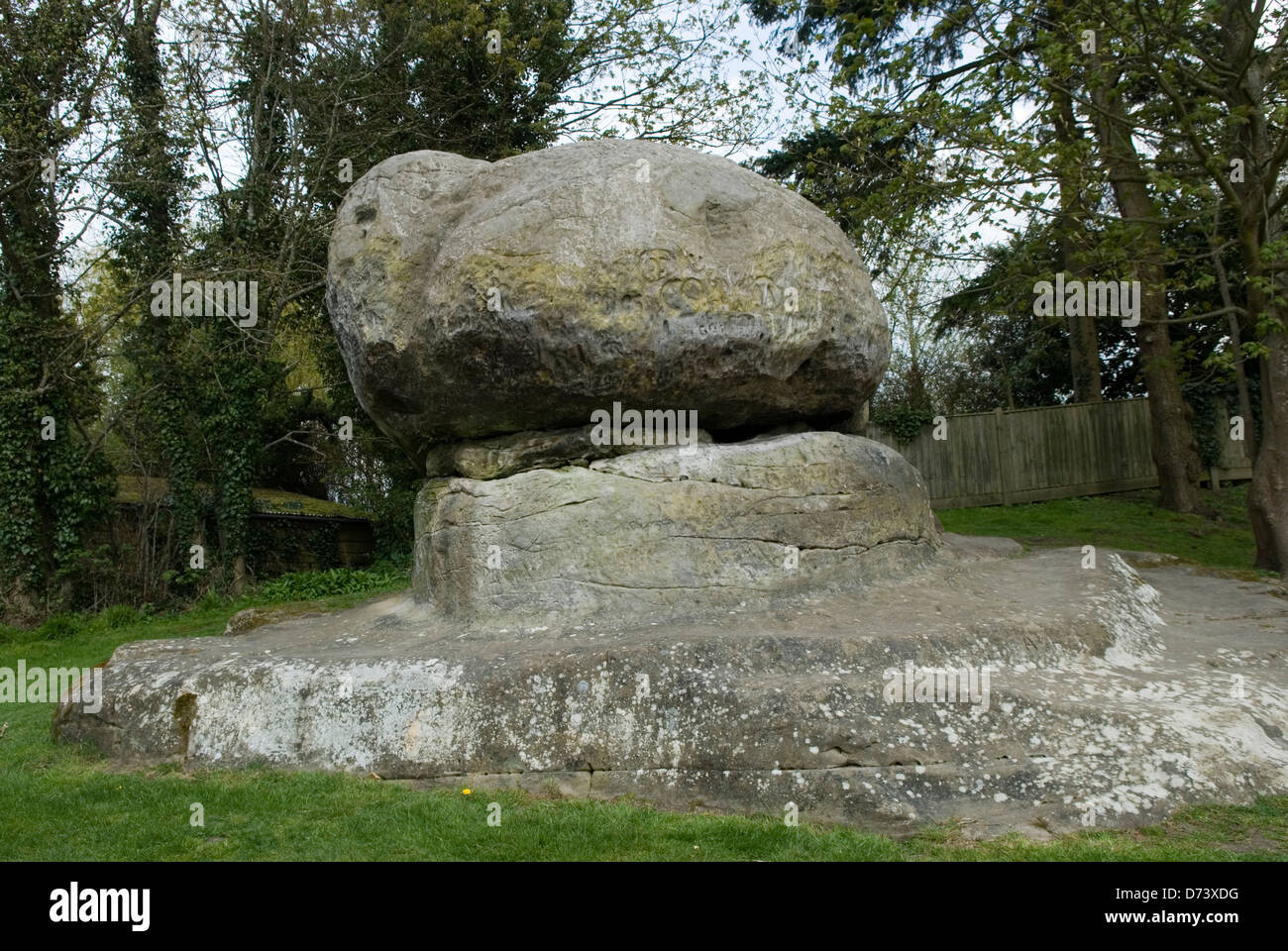 Kent UK Chiddingstone Chiding piedra o sentencia Stone HOMER SYKES Imagen De Stock