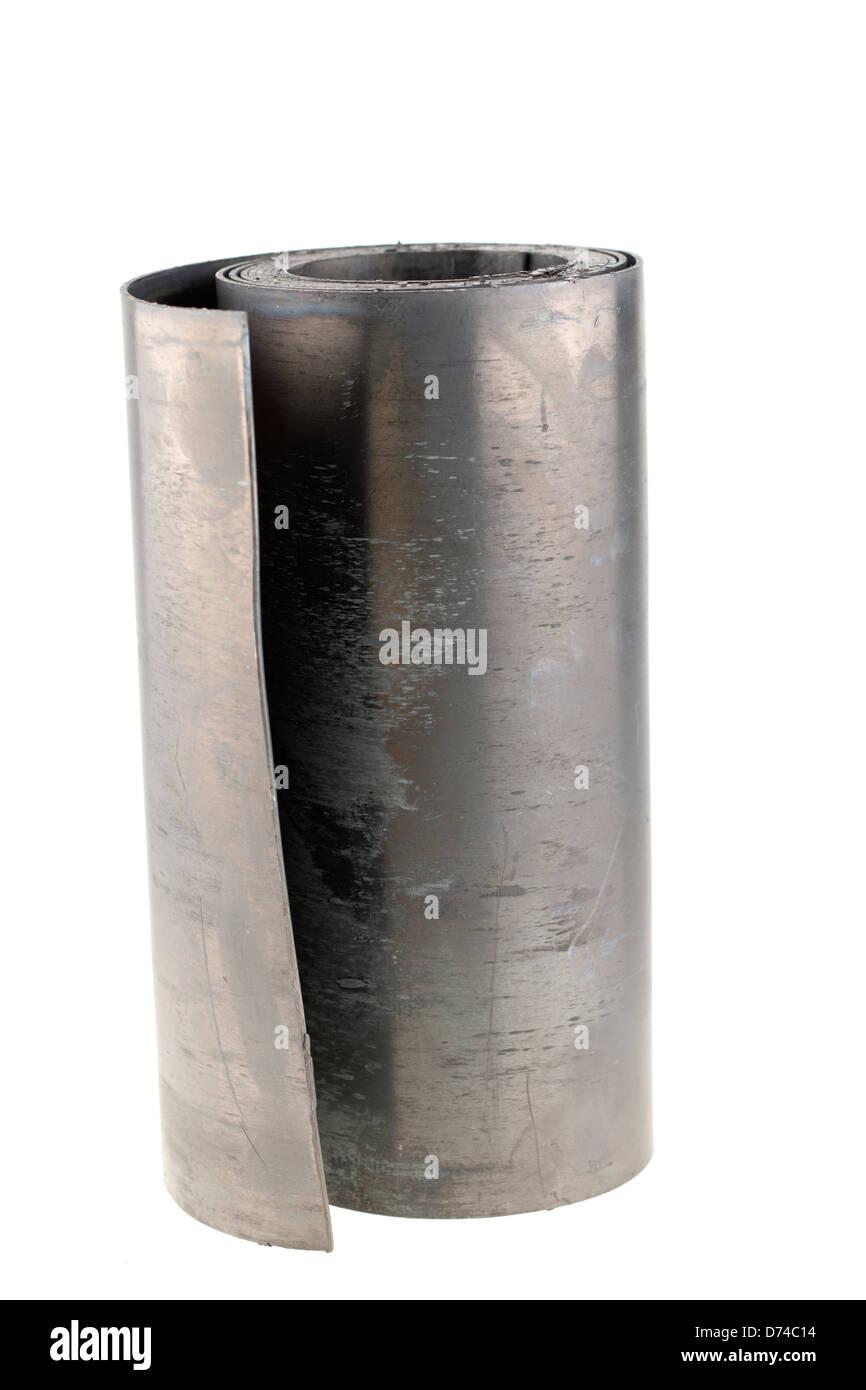 La mitad de un rollo de Código 4 plomo blanqueado 240 mm ancho Imagen De Stock