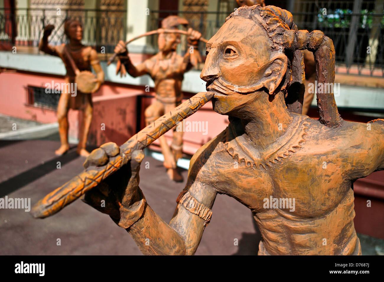 Nicaragua, Managua, Bailarina en honor del dios del cacao en el Palacio de la Cultura Imagen De Stock