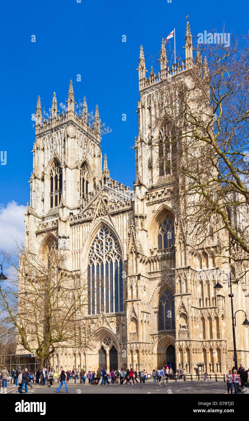 York Minster, la catedral gótica, de la ciudad de York, Yorkshire, Inglaterra, Reino Unido, GB, EU, Europa Imagen De Stock