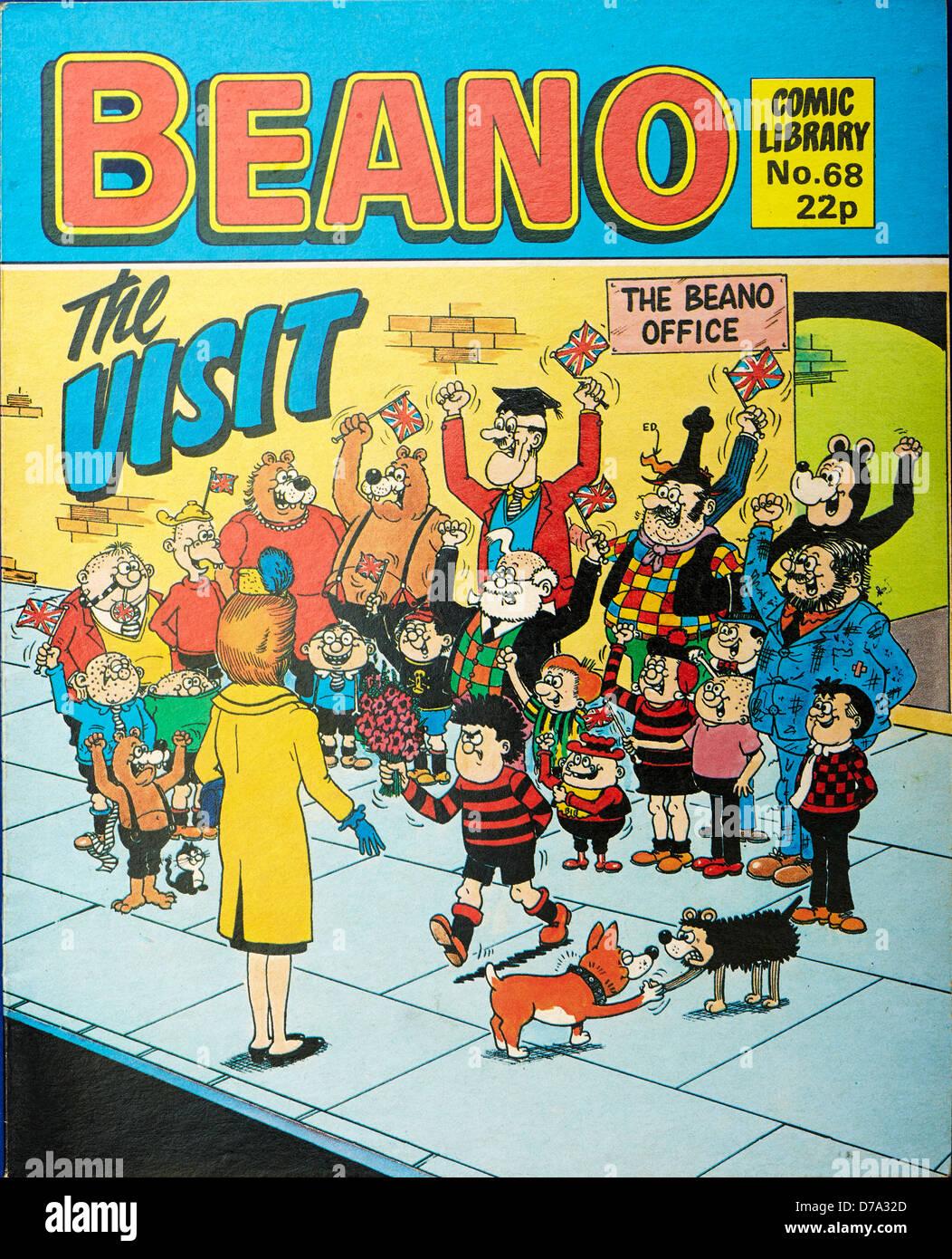 La revista de historietas (Comic Beano biblioteca) Foto de stock