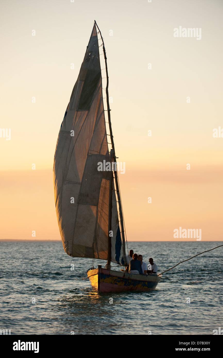 En Dhow, isla Benguerra, archipiélago de Bazaruto, en Mozambique Imagen De Stock