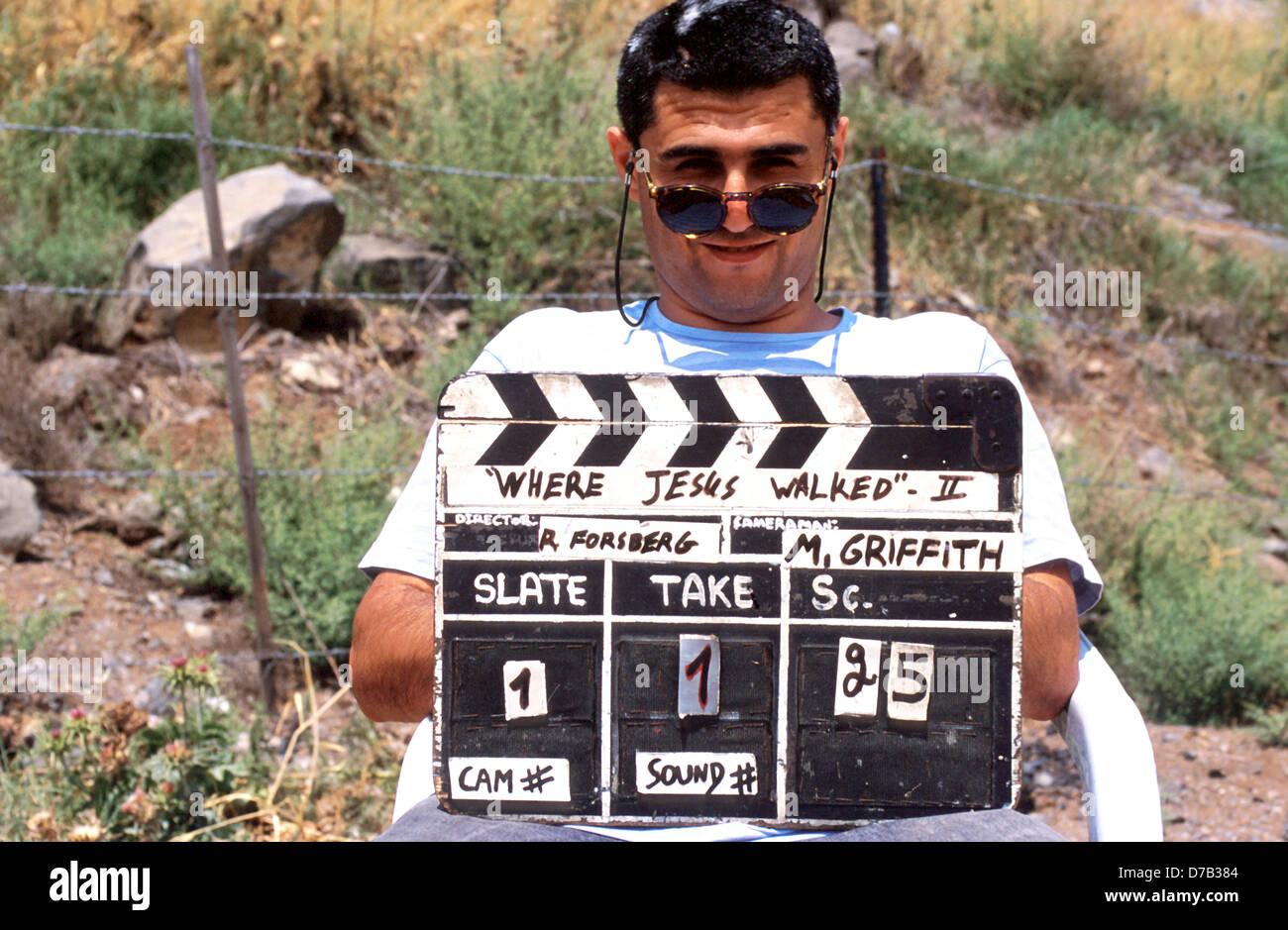 En el conjunto de la producción de una película Imagen De Stock