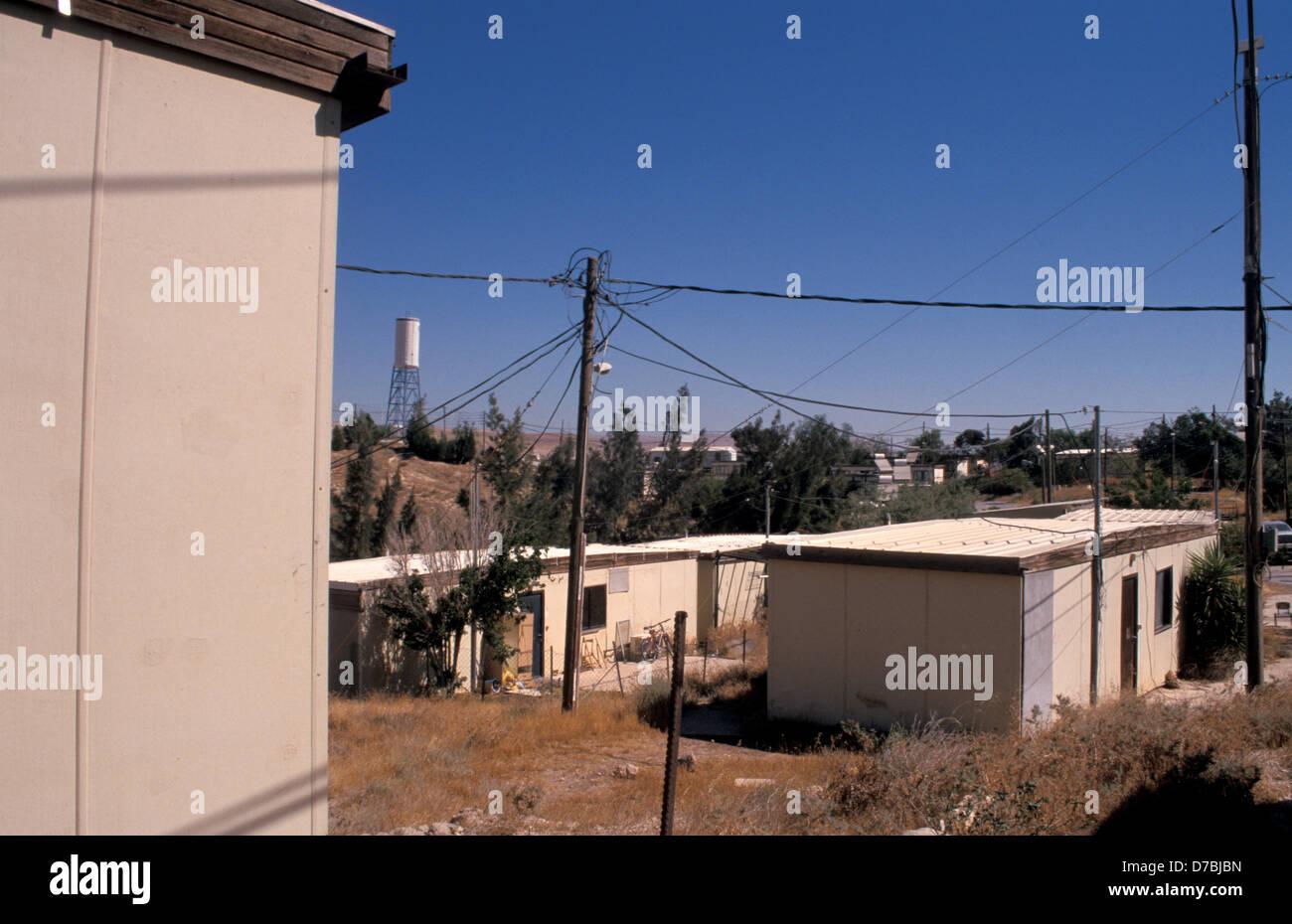 Caravanas en el asentamiento de Alon en Judea, 2003 Imagen De Stock