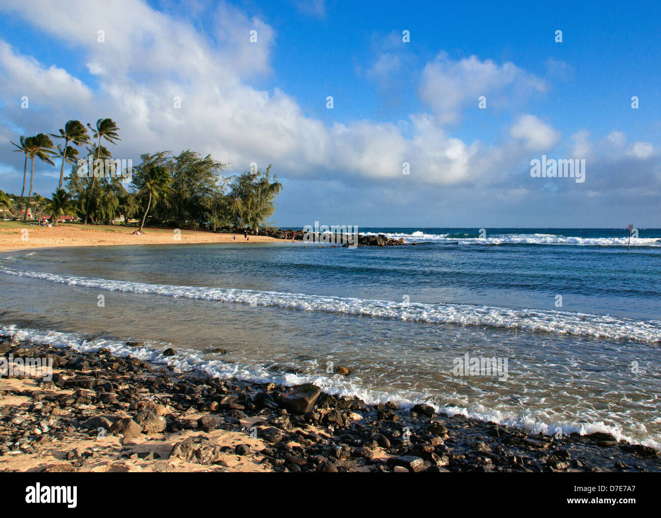 Poipu Beach Park, en la isla de Kauai, Hawaii. Foto de stock